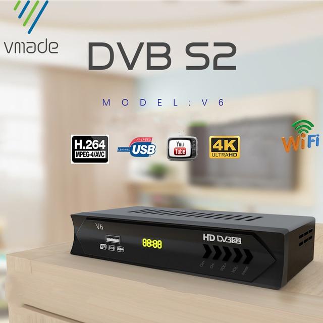 Mais novo dvb s2 hd 1080p receptor de tv por satélite dvb s2 receptor de satélite europa suporte decodificador youtube potência vu biss sintonizador de tv