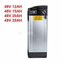 48V Elektrische Fiets Lithium Batterij Fit Minder dan 400W Motor Ebike Elektrische Fiets Batterij Aluminium Shell 12AH/15AH/20AH/25AH