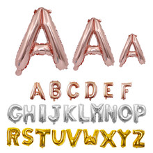 16 32 40 Inch Happy Birthday Balloons Alphabet Name Foil Letter Balloon Wedding Baby Shower Party Decorations Supplies Kid Toy