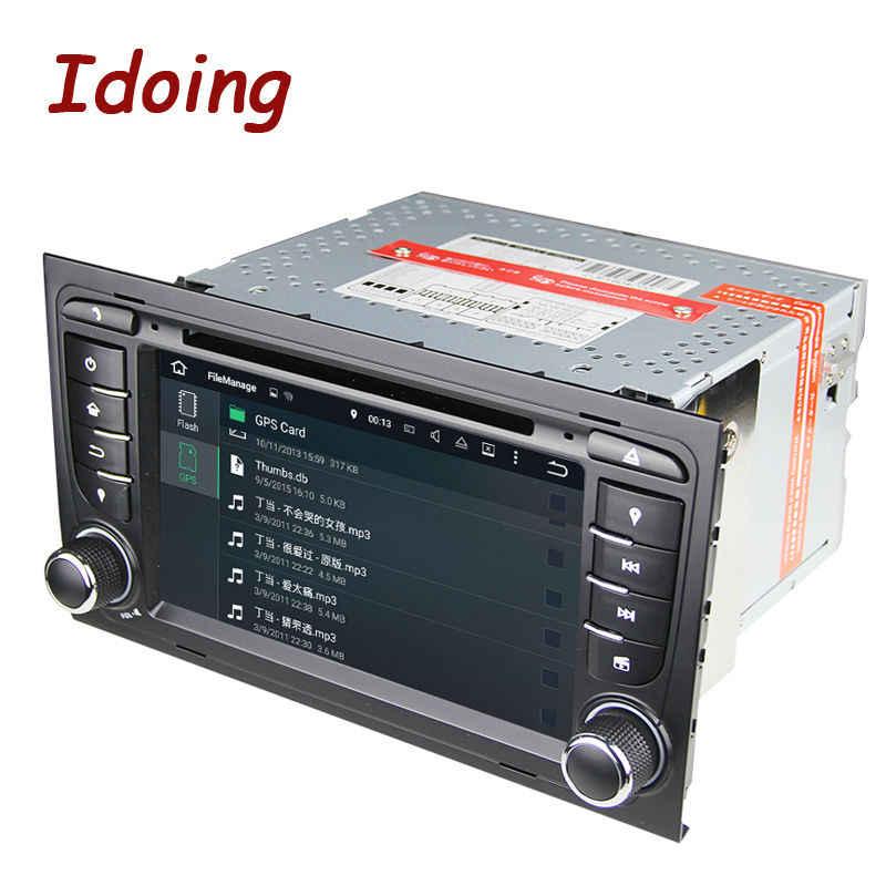 Idoing Car Multimedia Lettore Dvd 2Din Volante per Audi A4 Android 7.1 Quad Core Gps Navigazione di Video 3G wifi Swc OBD2 Tv
