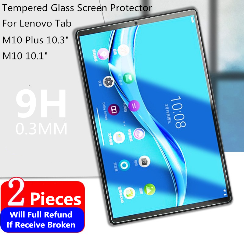 2pcs 9H Tempered Glass Screen Protector For Lenovo Tab M10 Plus 10.3 TB-X606F Tablet Protective Film For M10 10.1 TB-X605F X505F