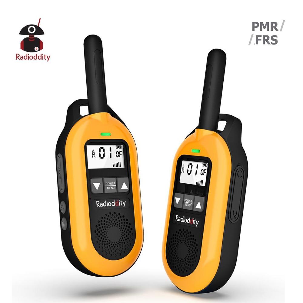 2pcs Radioddity FS-T2 FRS/ PR-T2 PMR NOAA License-free Walkie Talkie USB Charging Two Way Radio CTCSS DCS