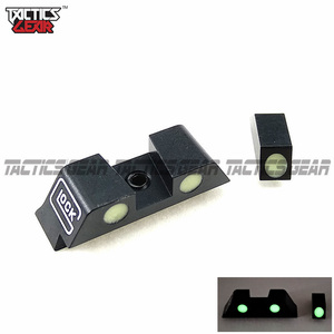 Image 1 - Hunting Pistol Handgun Glow in the Dark Night Sights Front and Rear Sight Set For Glock 17, 19, 22, 23, 24, 27, 33, 34, 35