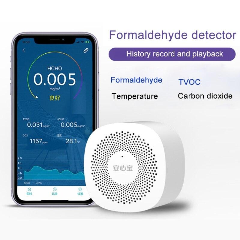 Qualidade do ar telefone app monitor co2 formaldeído tovc dióxido de carbono temperatura|Analisadores de gás|   -