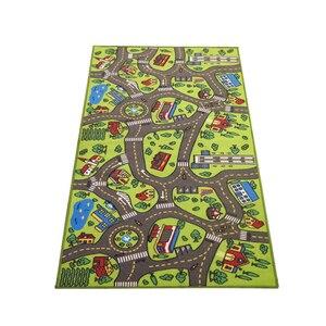 Image 1 - ילדי כביש תנועה משחק מחצלת שמיכת עיר ירוק כביש ילד לשחק מחצלת שטיח עבור תינוק זחילה שמיכת רצפת שטיח שטיח מחצלת