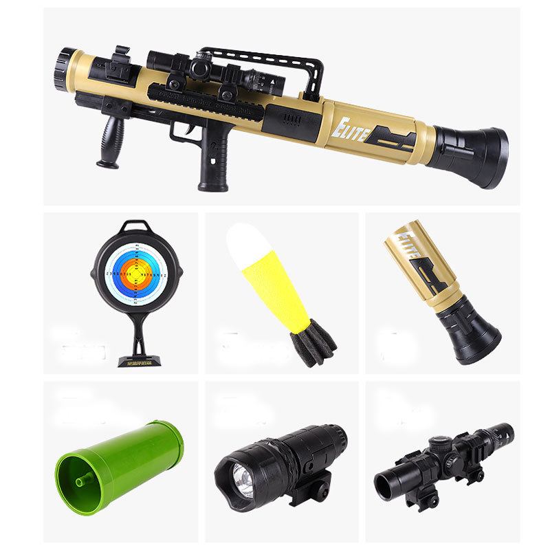 ZhenDuo Toy Rocket Launcher Bazooka Model Mortar Toy Can Launch Chasing Bomb Sound And Light Toy Gun For Children Christmas Gift