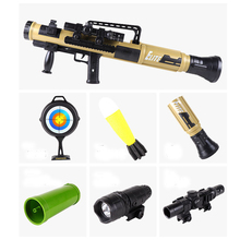 ZhenDuo Toy rocket launcher bazooka model mortar toy can launch chasing bomb sound and light Gun for Children Christmas Gift