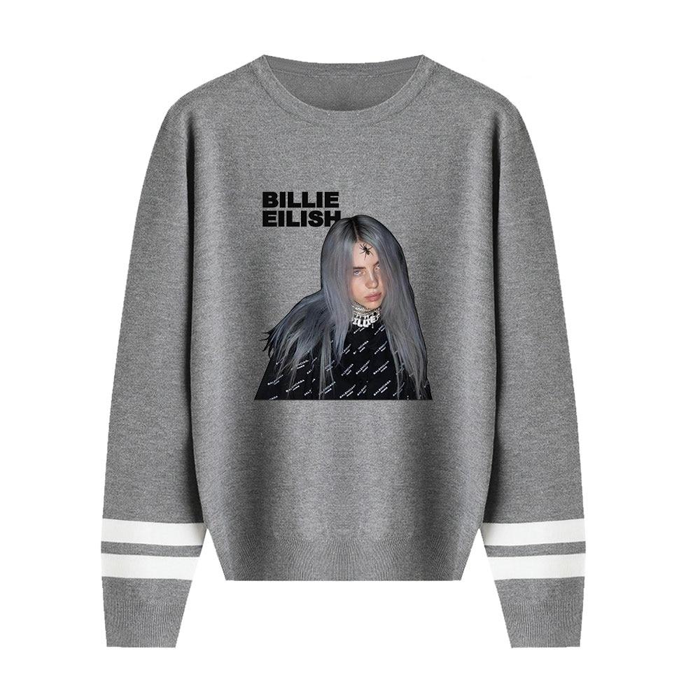 Billie Eilish Sweaters Knitting O-Neck Sweaters Fall/Winter Warm Sweaters Men Women Casual Pullovers Streetwear Fashion Sweaters