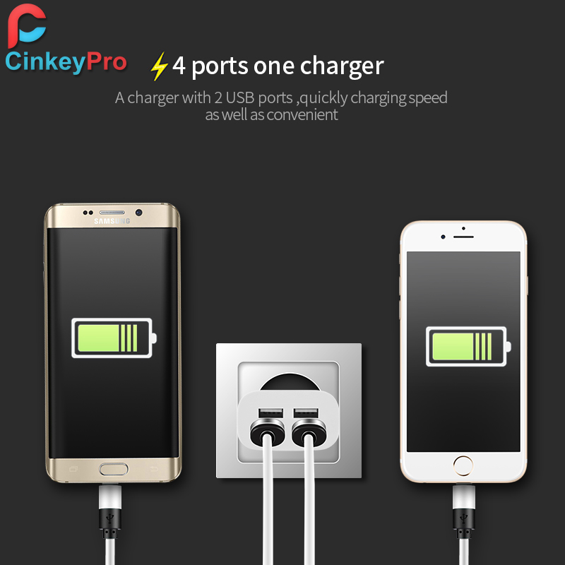 Image 5 - CinkeyPro USB Charger for iPhone Samsung Android 5V 4A 4 Ports Mobile Phone Universal Fast Charge LED Light  Wall Adapter-in Mobile Phone Chargers from Cellphones & Telecommunications