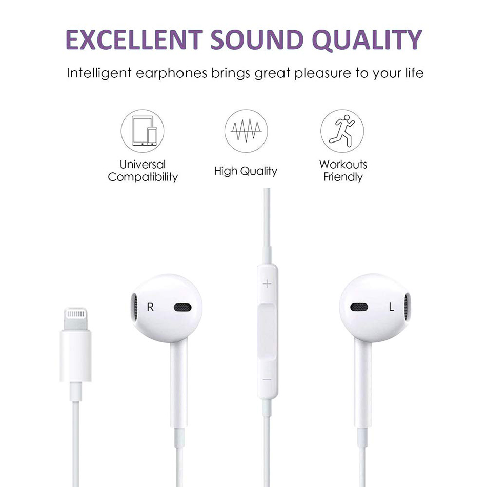 Bluetooth Earphones With Mic Earbuds For IPhone 8 7 Plus X XR XS Max Earphones Stereo Microphone Fone De Ouvido For IPhone