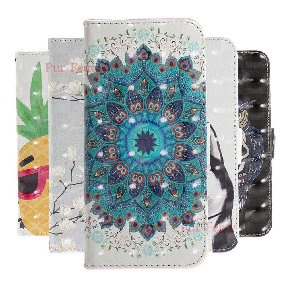 Case For <font><b>Samsung</b></font> <font><b>Galaxy</b></font> <font><b>A60</b></font> <font><b>SM</b></font> <font><b>A6060</b></font>/ds M40 Fashion Flip Leather Magnetic Wallet 3D Cartoon Pattern Cover For <font><b>Samsung</b></font> M40 <font><b>A60</b></font> image