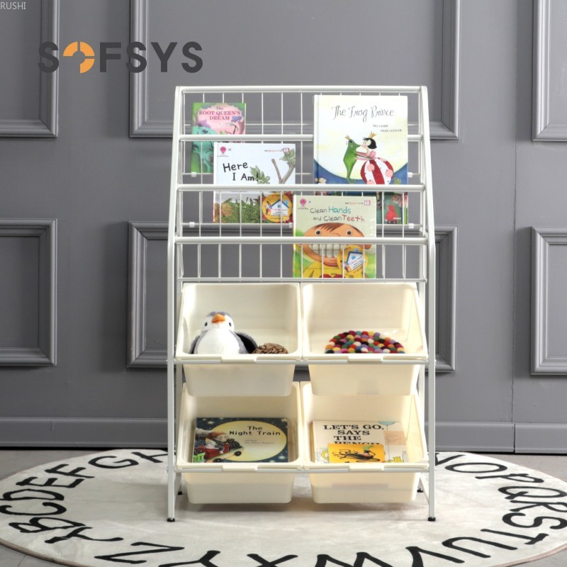 Childrenundefineds Toys Storage Kindergarten Storage Cabinet Sorting Shelves Baby Simple Iron Bookcase