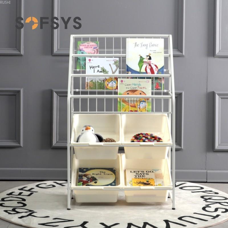 Childrenundefineds Toys Storage Kindergarten Storage Cabinet Sorting Shelves Baby Simple Iron Bookcase