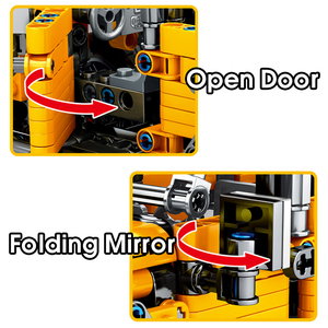 Image 4 - MMloveBB Creator Mechanical Pull Back Jeeped 오프로드 차량 모델 빌딩 블록 ing City Technic 자동차 벽돌 장난감 소년 용