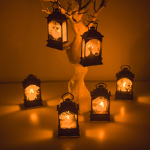 6pcs/set LED Lights Lamp Halloween Decoration for Home Garden Pendant Holiday Party Supplies Hanging