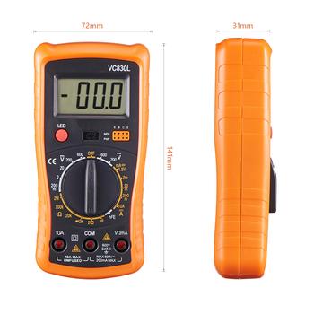 Ręczny multimetr QHTITEC z tylne światło Data Hold 1999 zlicza amperomierz AC DC Ohm rezystancja napięcie cyfrowy Tester miernik tanie i dobre opinie Elektryczne CN (pochodzenie) VC830L 2mA 20mA 200mA 20A 200mV 2V 20V 200V 700V 200 2k 20k 200k 2M 20M 200M Cyfrowy wyświetlacz
