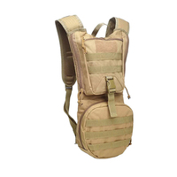 Hydration Pack Water Backpack with Bladder Military Camping Bag 20*10*50cm