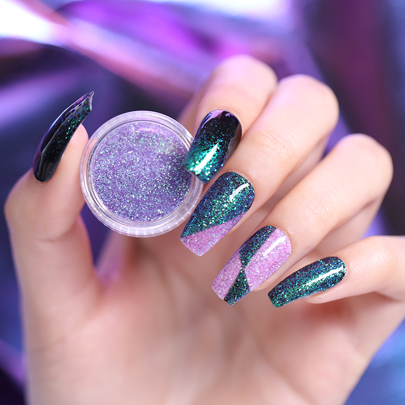 Image 4 - 6 Boxes Holographic Laser Nail Glitter Powder Gorgeous Chrome Nail Art Decorations Set For UV Gel Polish Manicure Pigment-in Nail Glitter from Beauty & Health