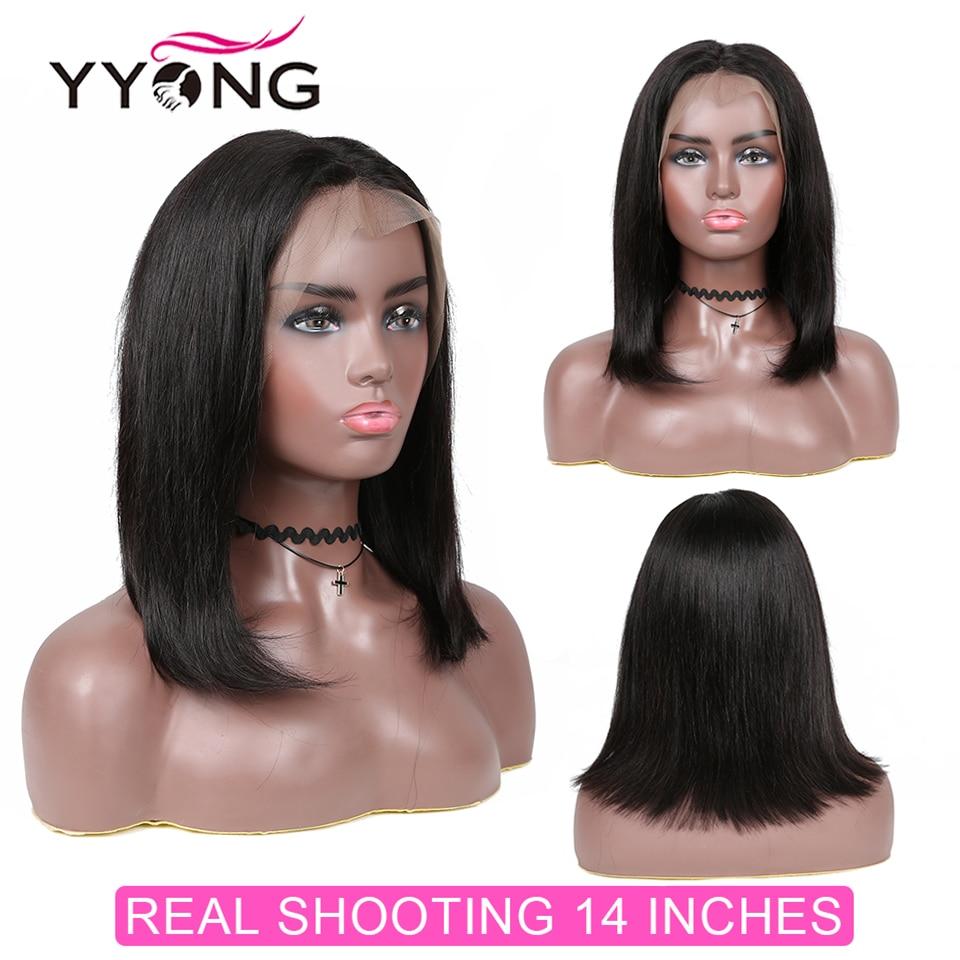 Yyong 1X6 T Part Lace Wig Short Bob Closure Wigs  Straight Lace Closure  Bob Wig With Baby Hair  120% 5