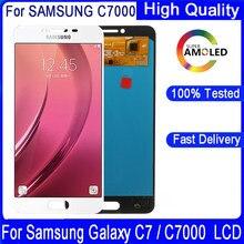 Bloc écran tactile LCD Super AMOLED de remplacement, pour Samsung Galaxy C7 C7000