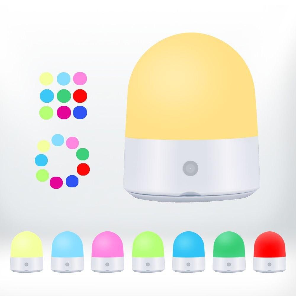 7 цветов RGBWW сенсорный Диммируемый ночной Светильник для детской спальни