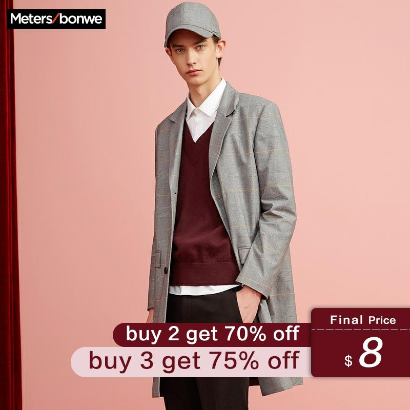 Metersbonwe New Brand Basic Sweater Men 2019 Autumn Fashion Long Sleeve V-Neck Knitted Men Cotton Sweater High Quality Clothes