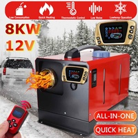 All In One Air diesels Heater 8KW Adjustable 12V One Hole Car Heater For Trucks Motor Homes Boats Bus +LCD key Switch+Remote