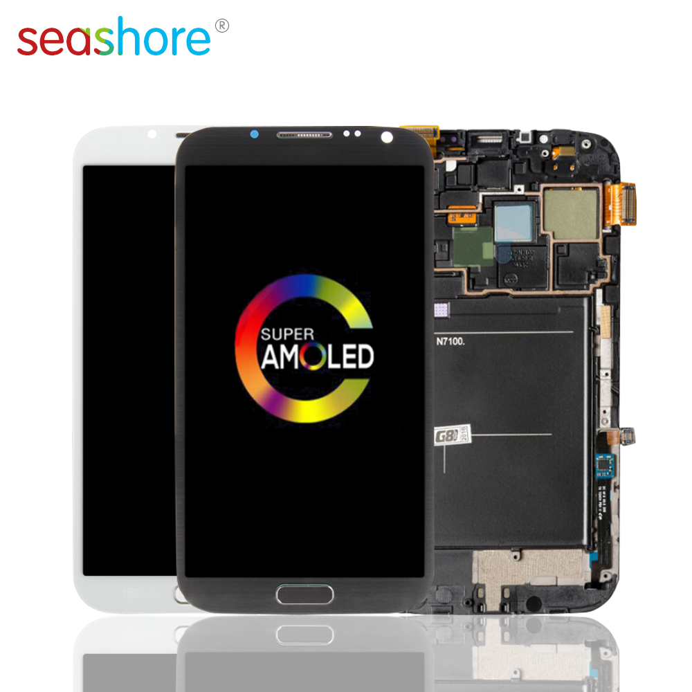 ORIGINAL For SAMSUNG Galaxy Note 2 LCD Touch Screen Digitizer Assembly For Samsung Note2 Display N7100 N7105 SHV-E250 SGH-T889 image