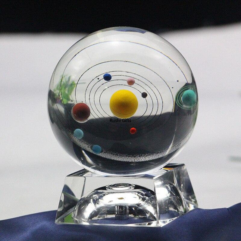 Décoration de La Maison créative Huit Planète Décoration Boule De Cristal 3DCrystal Système Solaire Voie Lactée Créatif Cadeau Idées Cadeaux D'anniversaire
