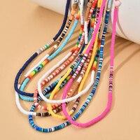 ZMZY-Cuerda de ojo colorido para teléfono móvil, correa de teléfono móvil con cuentas, colgante, joyería