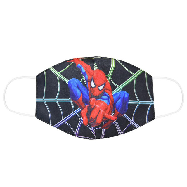 Spiderman Mouth Mask for Kids Adult Unisex Cartoon Face Breathable Cotton Windproof Anti-Dust Anti Pollution Reusable Masks 1