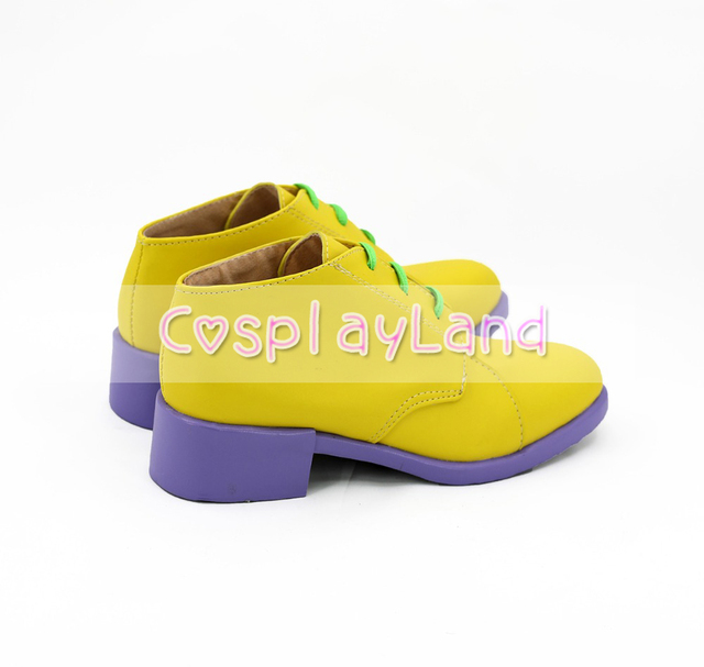 JoJo's Bizarre Adventure Rohan Kishibe Cosplay Boots Shoes Yellow Men Shoes Costume Customized Accessories Halloween Party Shoes 2