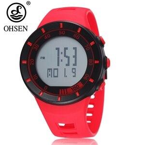 Цифровые женские наручные часы reloj mujer, модные красные водонепроницаемые спортивные женские часы с секундомером, Электронные Силиконовые ч...