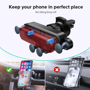 Image 3 - GETIHU Gravity Car Phone Holder Air Vent Clip Mount No Magnetic Mobile Phone Support in Car Stand For iPhone 11 Pro X XR Xiaomi