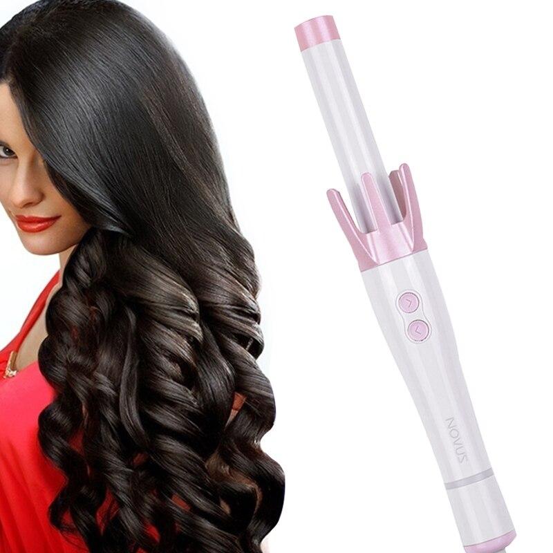 NOVUS Ceramic Automatic Hair Curler Curling Hair Stick 360 Rotating Constant Temperature Curling Iron Anti-Scalding Curly Tool