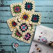 Handmade Original 12cm Placemat Crochet Coaster Handmade Cup Mat Photo Props Placemat Decorative Mat 20pcs/lot
