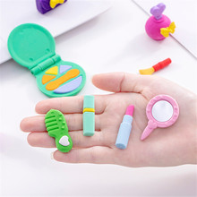 Erasers Makeup-Set Stationery Cosmetics-Series Girls Kids Cute for Office School-Rubbers