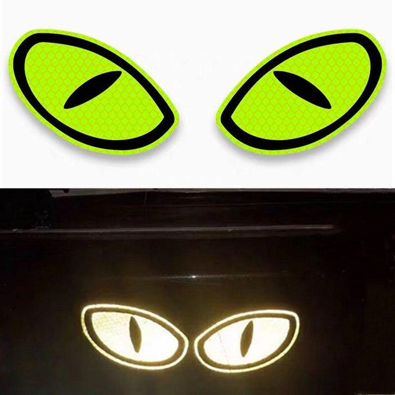 2 предмета в комплекте Светоотражающая наклейка для автомобиля Предупреждение лента глаз Форма со светоотражающими элементами Безопаснос...