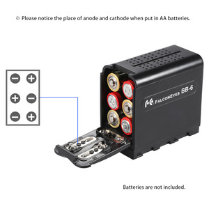 Image 5 - YONGNUO YN360S כף יד LED וידאו אור + BB 6 AA סוללות קייס 5500K Dimmable APP שלט רחוק כף יד צילום אור