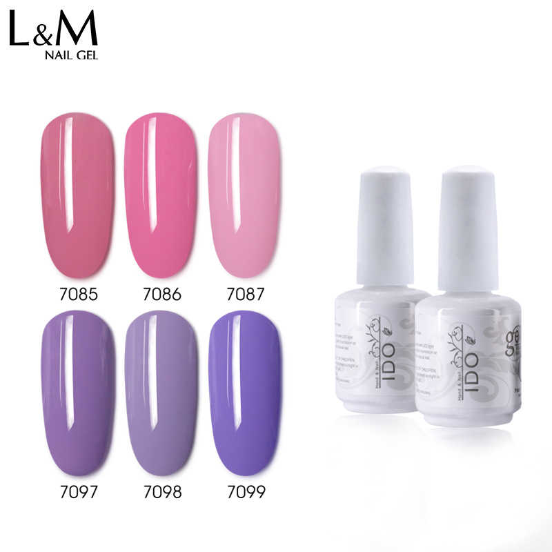 ID Putih Bottle15ml 1PC D-1 Seri Warna Kuku Gel Polandia Baru Colorful LED/UV Rendam Off Art Beauty kuku Polandia Akhirnya Lebih