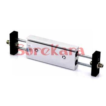 Aluminium Bore 25mm Stroke 125mm STMB25x125 Dual Rod Air Slide Table Cylinder