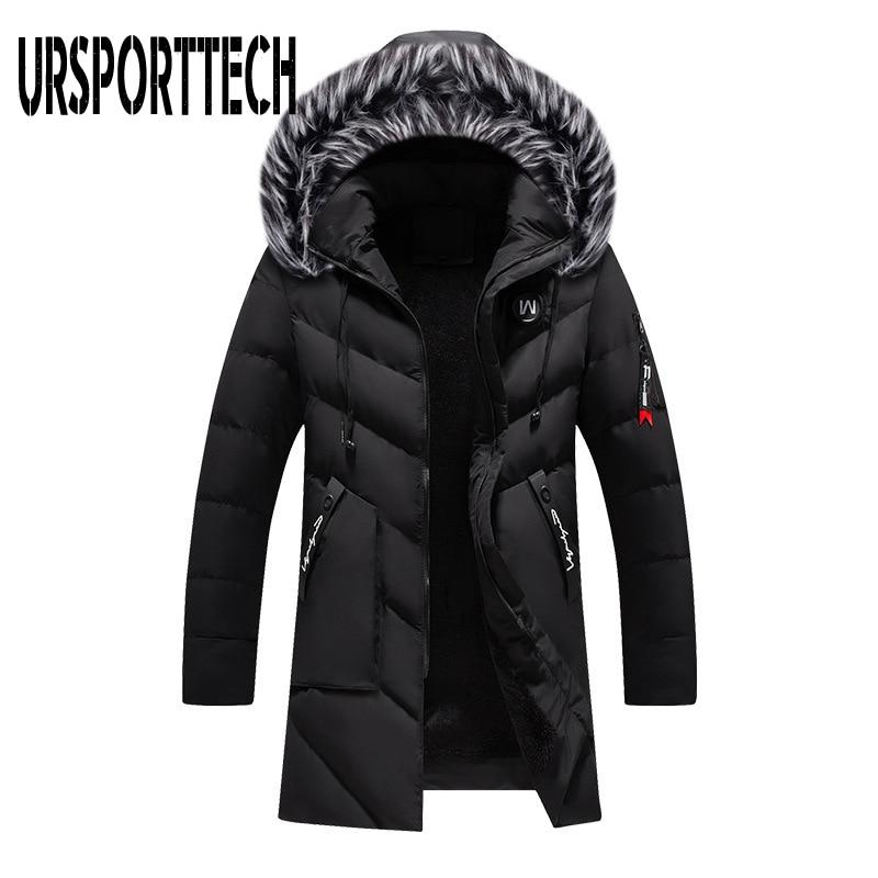 Top Quality Winter Parka Men Thick Warm Winter Jacket Men Windproof Casual Outerwear Medium Long Coat Men Parka Plus Size XXXL