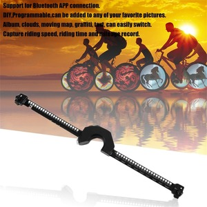 Roda de bicicleta luzes led inteligente bluetooth controle inteligente roda luz usb recarregável roda falou luzes à prova dwaterproof água