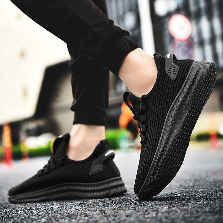 2019 Autumn Casual Shoes Fly Woven MEN'S SHOES Breathable Men Athletic Shoes Students Running Shoes Trend Outdoor Shoe