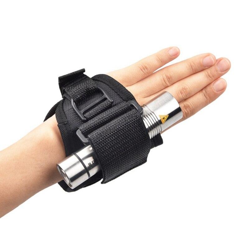 2020 New Underwater Scuba Diving Dive LED Torch Flashlight Holder Soft Black Neoprene Hand Arm Mount Wrist Strap Glove Drop Ship