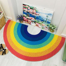 Домашний Радужный коврик полукруглый напольный для ванной двери