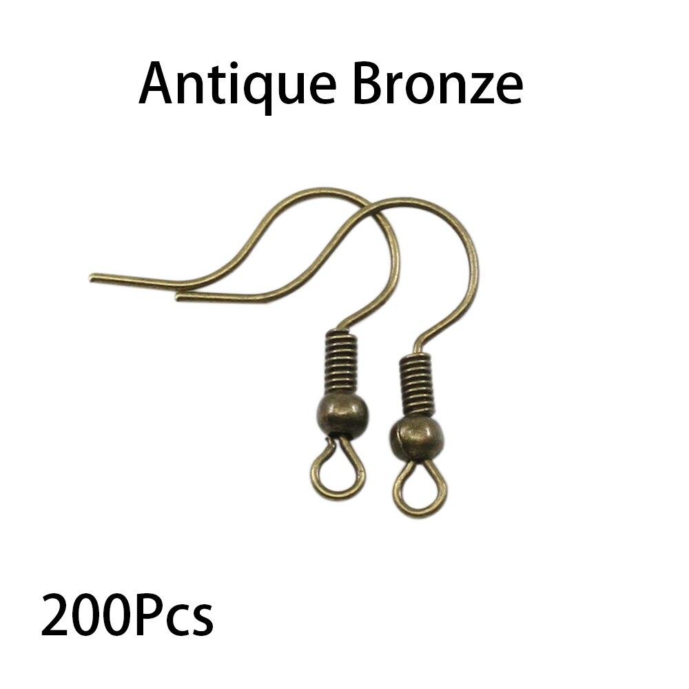 200pcs/lot 20x17mm Earring Findings Ear Clasps Hooks Fittings DIY Jewelry Making Accessories Iron Hook Ear wire Jewelry Supplies 3