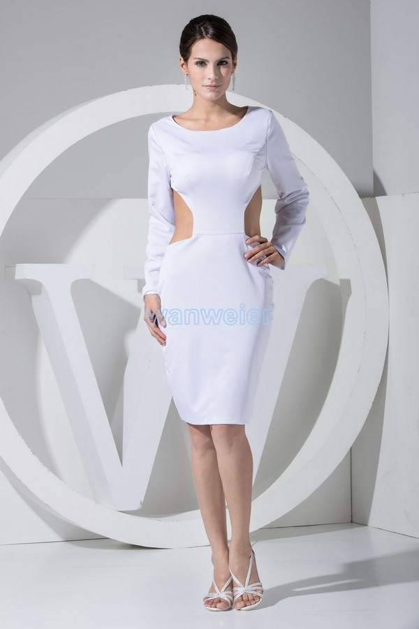 Free Shipping 2018 Hot Sale New Design White Sexy Long Sleeve Backless Customize Color Mother Of The Bride Dresses With Jacket