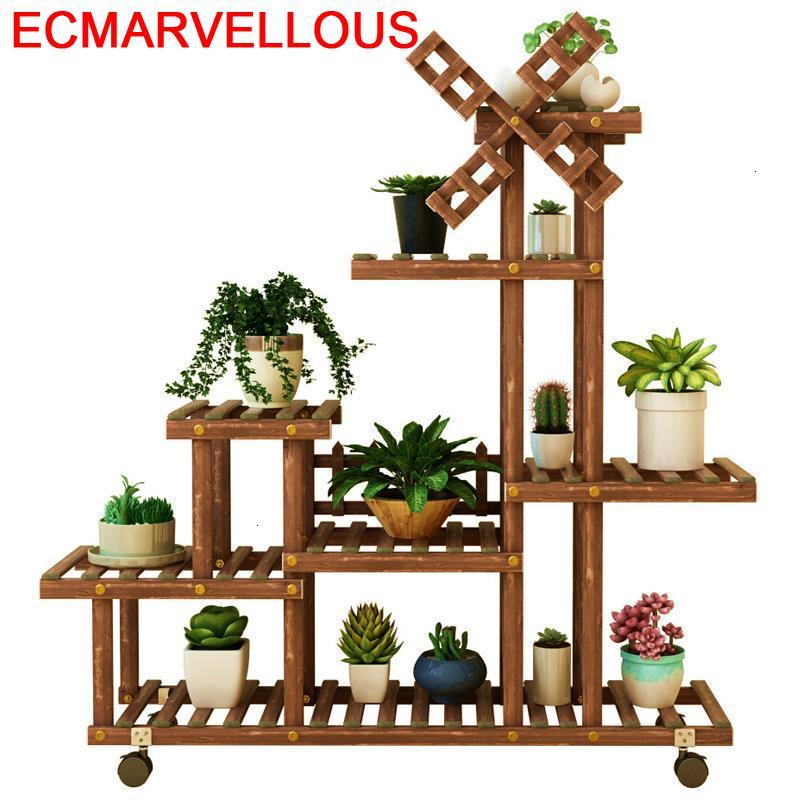 Indoor Wood Pot Mueble Plantas Estante Para Flores Plantenstandaard Stojak Na Kwiaty Outdoor Rack Flower Shelf Plant Stand