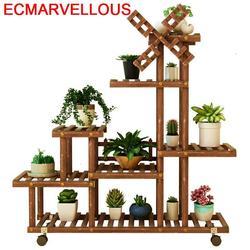 Indoor Wood Pot Mueble Plantas Estante Para Flores Plantenstandaard Stojak Na Kwiaty Outdoor Rack Flower Shelf Plant Stand
